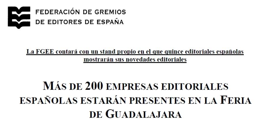 Fuente: Nota de prensa de FGEE