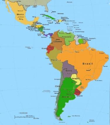 Mapa America latina